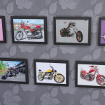 Plain curtains and my own Motorcycle portraits