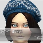 Snowy Beret -2 styles / 8 colors-