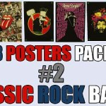 Classic Rock Bands 8 Posters Pack II