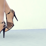 MA$ims 3: Snake Stiletto Ankle Strap Sandals [Sims4]