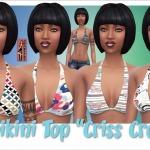 """Annett's Sims 4 Welt: Bikini Top & Shirt """"Criss Cross"""""""