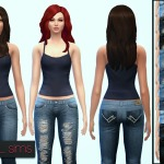 Contrast Pocket Jean (2 Styles) ~ NyGirl Sims