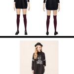 Varsity black sweater outfit