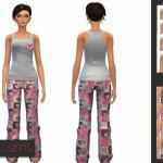 Hearts Pajama ~ NyGirl Sims