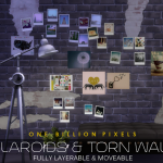 One Billion Pixels: Polaroids & Torn Walls (The Sims 4)