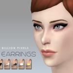 One Billion Pixels: Tiny Earrings (The Sims 4)