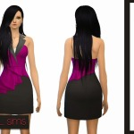 Sleeveless Asymmetric Peplum Dress ~ NyGirl Sims