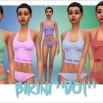 "Annett's Sims 4 Welt: Bikini ""Dot"""