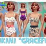 "Annett's Sims 4 Welt: Bikini ""Graceful"""