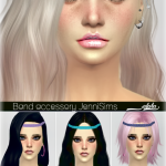 Jennisims: Downloads sims 4: New Mesh Accessory Hair Band (alpha & non alpha )