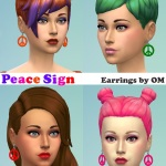 Peace Earrings | Sims 4 Studio