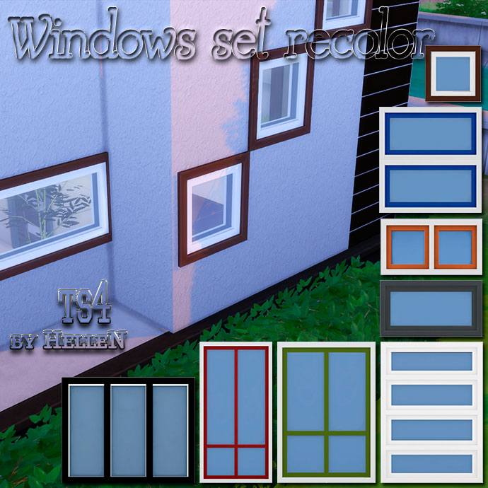 Sims 4 Cc S The Best Windows By Tingelingelater: Windows Set Recolor By HelleN.