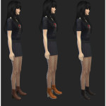 High Heeled Lace Up Ankle Boots | Simista A little Sims 4 Site