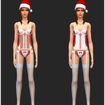 Naughty And Nice Christmas Lingerie | Simista A little Sims 4 Site