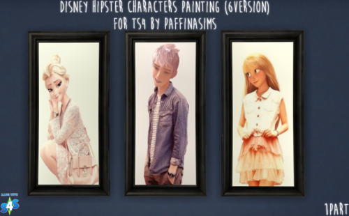 Paffina Sims Ts4cc Disney Hipster Characters Painting 6