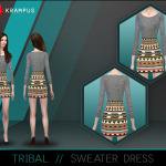 The Sims 4 tribal sweater dress for women. … – SIMS 4 CUSTOM CONTENT