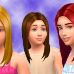 Straight Hair for Girls by Kiara24 Download… – The Sims Generations CC Library