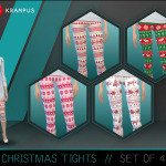 The Sims 4 Christmas tights for women. Download… – SIMS 4 CUSTOM CONTENT