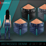 The Sims 4 distressed denim jeans for women. … – SIMS 4 CUSTOM CONTENT