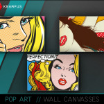 The Sims 4 Pop Art wall canvas, set of 3. … – SIMS 4 CUSTOM CONTENT
