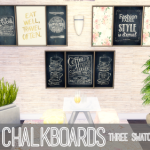 Simkea  Large Chalkboards [Base Game Recolours]