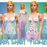 "Annett's Sims 3 World • Bra Shirt ""Flowers"""