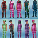 Wingly Simmer  61 different jumpsuit colours and matching hat