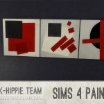 K-hippie Sims 4 – 3 paintings recolors : ClassiK Free Art
