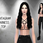 CallieV Plays — Created for TS4 A black leather harness top with…