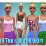 Annett's Sims 3 World • Dotted Top & Ruffle Skirt DOWNLOAD