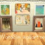 わたしむ – ✧ฺWata Sim wall art set✧ wallart(base game…