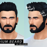 Medium Beard + Darker Jaw Stubble (18 colours) … – LumiaLover Sims