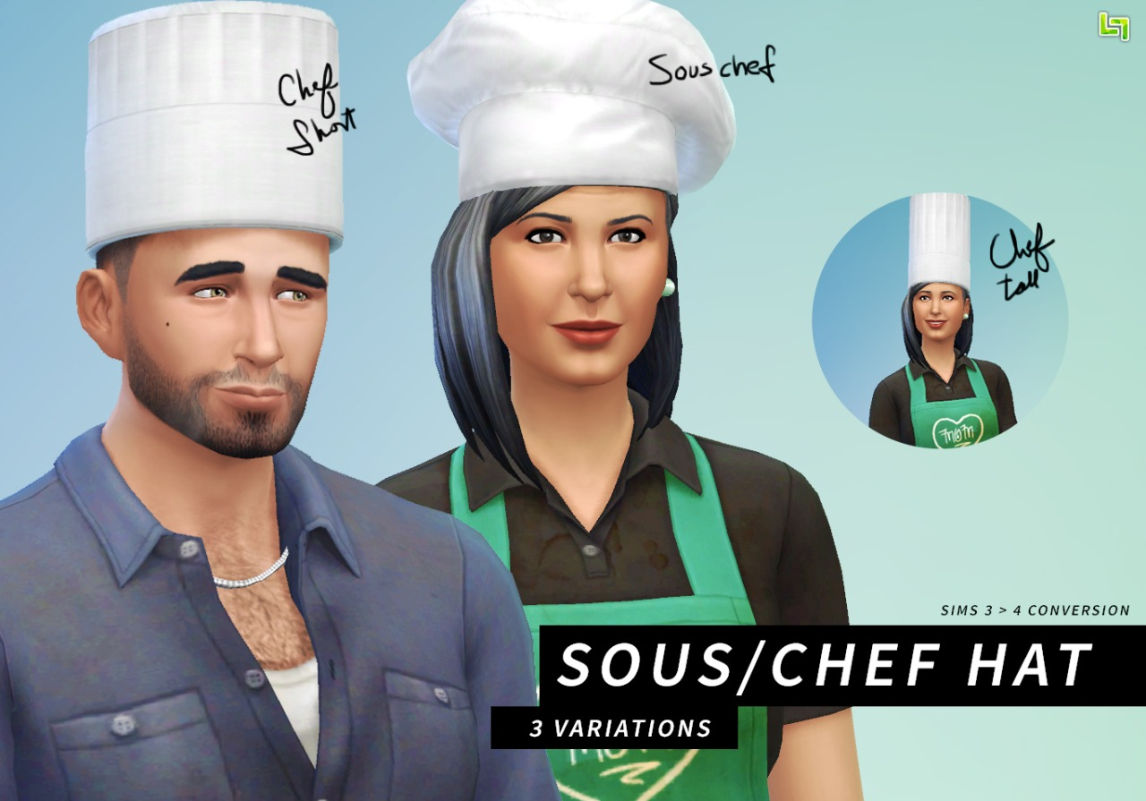 Chef Hats Converted From Sims 3 Aspiring Lumialover