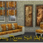 "Annett's Sims 3 World • Living Room Set ""Africa"" DOWNLOAD Mesh = EA …"