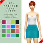 Sim4ny High Waisted Mini Skirt