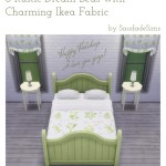 Saudade Sims • Rustic Beds with Ikea Fabric
