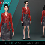Leather Skirt and JAcket.. – SIMS 4 CUSTOM CONTENT