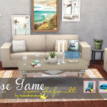 In a bad Romance. Base Game Furniture Recolors