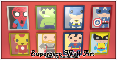 plumbobs amp gumdrops super hero wall art and bed recolors