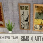 K-hippie Sims 4 – 7 … x3 = 21 K Artworks – volume 1