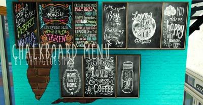 Ohmyglobsims Chalkboard Menu And Industrial Bar Stool