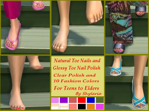 Shylaria S Natural And Glossy Polished Toe Nails For Teen