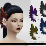 Leah Lillith's LeahLillith Emblished Feathers Earrings