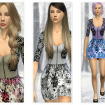 CherryBerrySim's Floral dress with lace cardigan