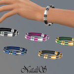 NataliS_Rubber and metal bracelet FT-FA