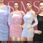 [JS SIMS 4] Cutout Outfit | JS SIMS