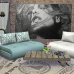 My little The Sims 3 World: Mystic Rain Folded Couch Recolors-t4