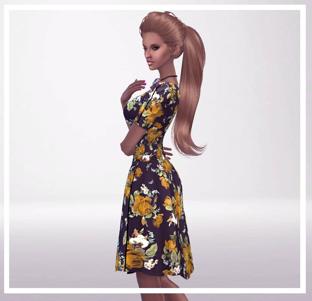 zenezis floral dresses 3 colors top bottom sims 4 updates sims 4 finds sims 4 must. Black Bedroom Furniture Sets. Home Design Ideas