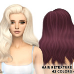 alessoomen – missParaply Hair retexture / Alesso/Cool_Sims Omen / 42 colors