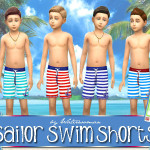Sailor Swimshorts (Sims 4) | akisima sims blog